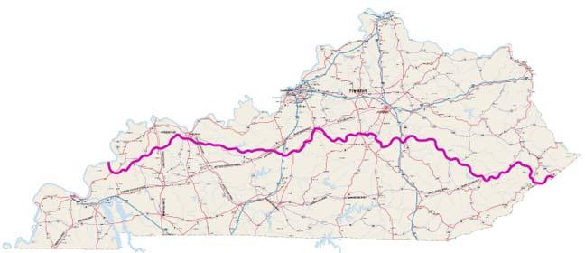 Bike Trails In Ohio Map.Biking Trails Routes Across Kentucky
