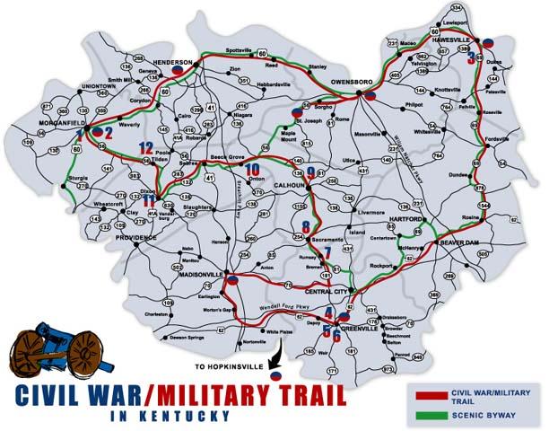 Civil War  Military Trail in Kentucky