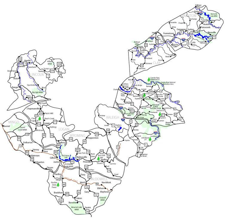 Coalwood West Virginia Map.West Virginia Initiative