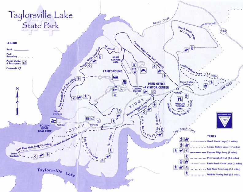 taylorsville lake wma map Wildlife Birding Trails In Kentucky taylorsville lake wma map